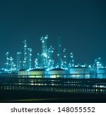 refinery industrial plant with... | Shutterstock . vector #148055552