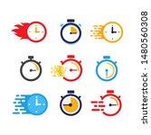 creative stopwatch vector icon. ...   Shutterstock .eps vector #1480560308