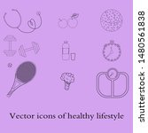 a set of flat icons  vector... | Shutterstock .eps vector #1480561838