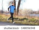 Male Runner Man Running In...