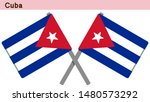 cuba flags isolated on white... | Shutterstock .eps vector #1480573292