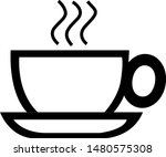 illustration of coffee  sticker ... | Shutterstock .eps vector #1480575308