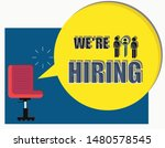 we are hiring background.... | Shutterstock .eps vector #1480578545