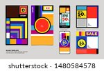 geometric colorful flat summer... | Shutterstock .eps vector #1480584578