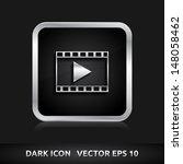 video format icon   color dark... | Shutterstock .eps vector #148058462