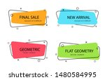 set of trendy banner with flat... | Shutterstock .eps vector #1480584995