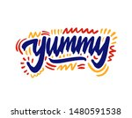 yummy hand drawn illustration.... | Shutterstock .eps vector #1480591538