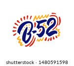b 52 drink name on a white... | Shutterstock .eps vector #1480591598