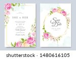 invitation card with beautiful... | Shutterstock .eps vector #1480616105