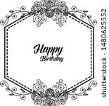 vintage happy birthday card ... | Shutterstock .eps vector #1480625552