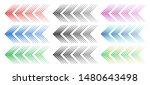 Halftone Arrows. Color Web...