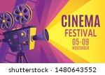 cinema festival poster. film... | Shutterstock .eps vector #1480643552