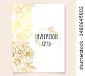 invitation greeting card with... | Shutterstock . vector #1480645802