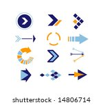 directions icons vector | Shutterstock .eps vector #14806714