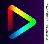 simple logo in gradient on dark ... | Shutterstock .eps vector #1480672952