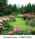 Stock photo rose garden 148071596