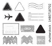 a vintage blank postal stamps... | Shutterstock .eps vector #1480718702