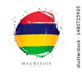 mauritius flag in the shape of... | Shutterstock .eps vector #1480725935