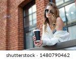 coffee break. attractive young... | Shutterstock . vector #1480790462