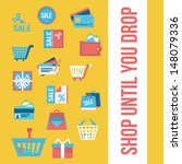 shopping icons | Shutterstock .eps vector #148079336