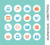 shopping icons | Shutterstock .eps vector #148079342