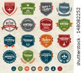 set of retro vintage badges and ... | Shutterstock .eps vector #148082252