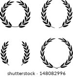 laurel wreaths set vector... | Shutterstock .eps vector #148082996