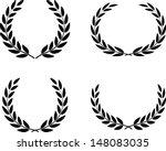 laurel wreaths set vector... | Shutterstock .eps vector #148083035