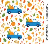 vector seamless pattern with... | Shutterstock .eps vector #1480860842