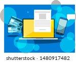 stock vector workplace ...   Shutterstock .eps vector #1480917482