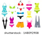 various design swimsuit... | Shutterstock . vector #148092908