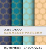 art deco seamless pattern with... | Shutterstock . vector #1480972262