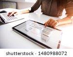 close up of a busineswoman's... | Shutterstock . vector #1480988072