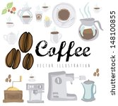 coffee design over white... | Shutterstock .eps vector #148100855