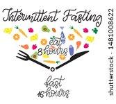intermittent fasting... | Shutterstock .eps vector #1481008622