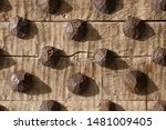 Detail Of A Heavy Wooden...