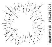 starburst doodle  hand drawn...   Shutterstock .eps vector #1481089205