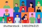 people avatar face icons  set... | Shutterstock . vector #1481096315