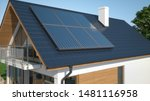 Solar Collector Panels On Roof  ...