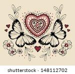 vintage butterfly heart...