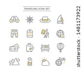 set of travel line icon. | Shutterstock .eps vector #1481173922