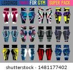 super pack of leggings pants...   Shutterstock .eps vector #1481177402