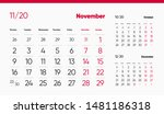 november page. 12 months... | Shutterstock .eps vector #1481186318