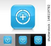 plus in circle icon. blue...