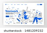 teamwork vector design for...