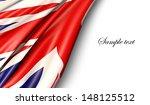 uk flag on white background | Shutterstock . vector #148125512