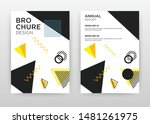 Black  Yellow Triangles Design...