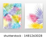 colorful palm leaves design for ... | Shutterstock .eps vector #1481263028