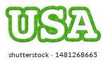 Usa  Grass Text  3d   ...