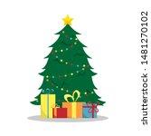flat new year's illustration...   Shutterstock . vector #1481270102